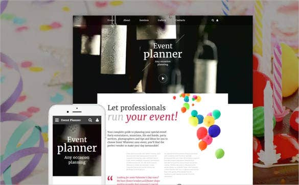 birthday-event-responsive-website-template