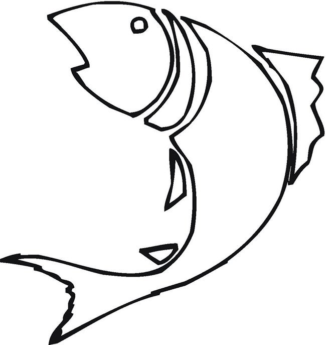 black fish template - Free Printable Drawing Templates