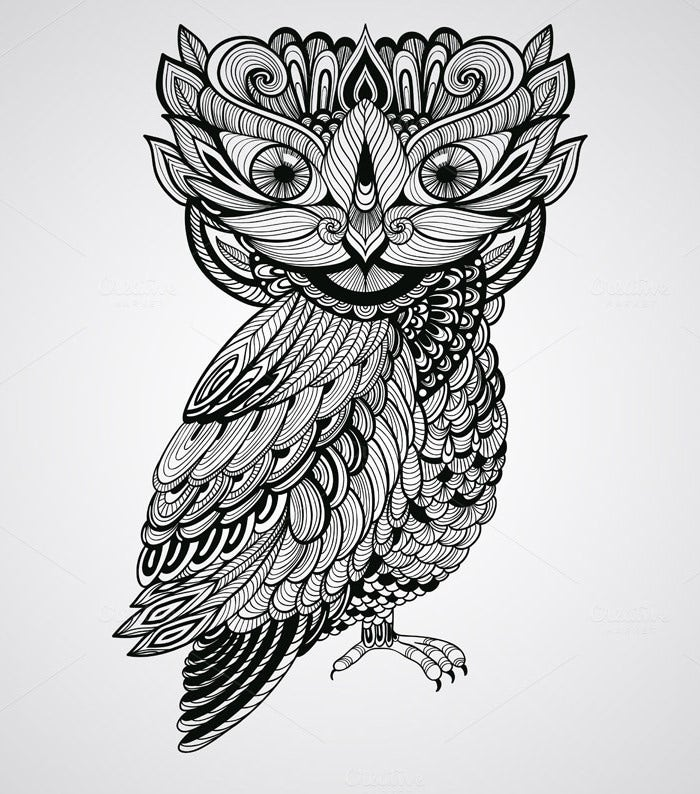 block vector owl