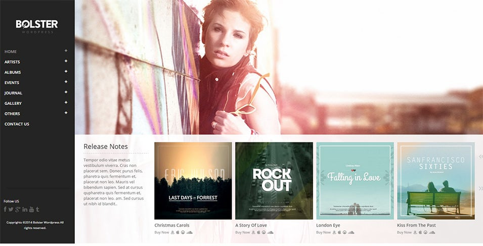 bolster music band wordpress theme1