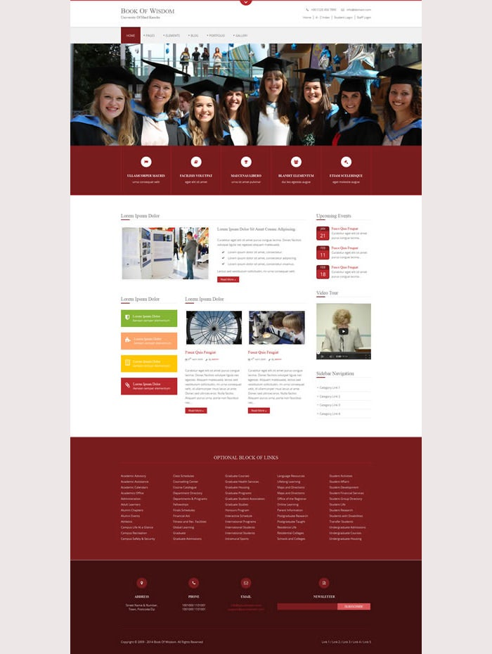 Book Of Wisdom Premium Website Template