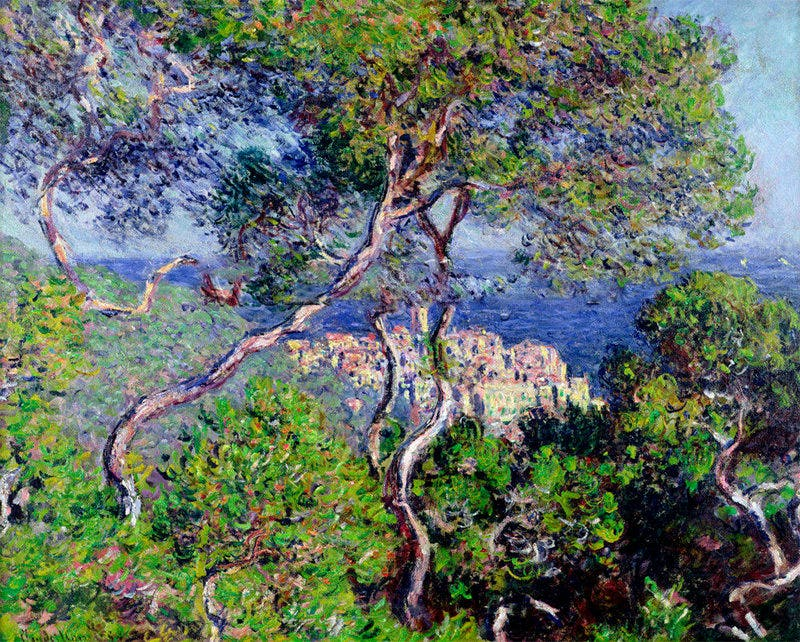 bordighera 1884 art print by claude monet