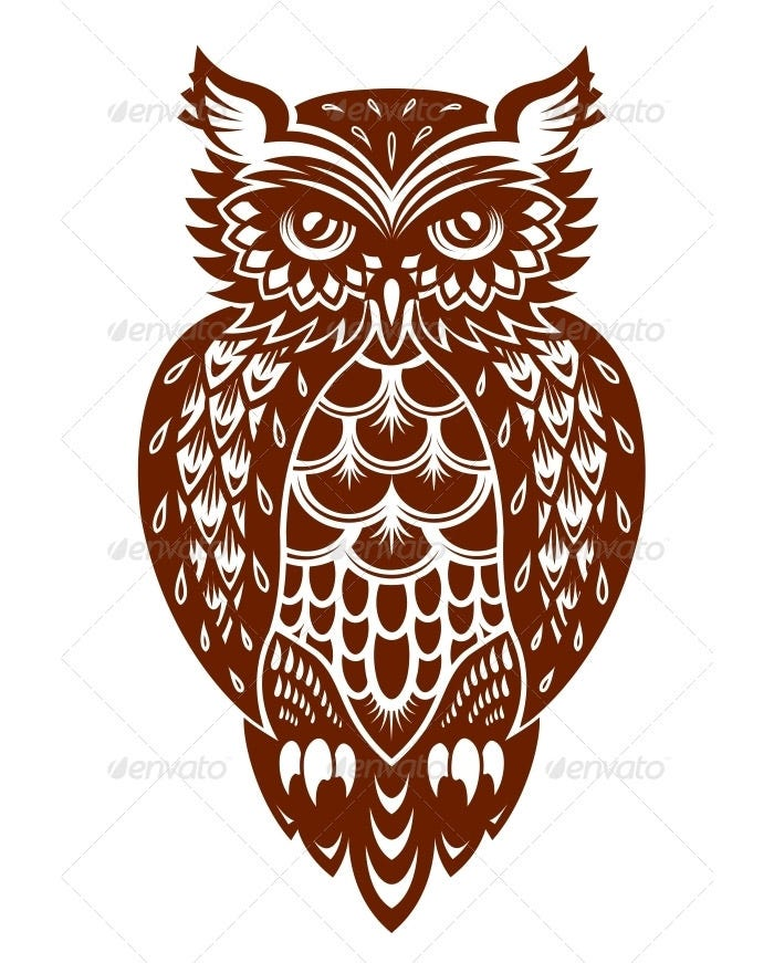 brown owl illustration