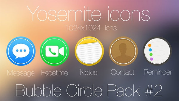 bubble circle icon pack