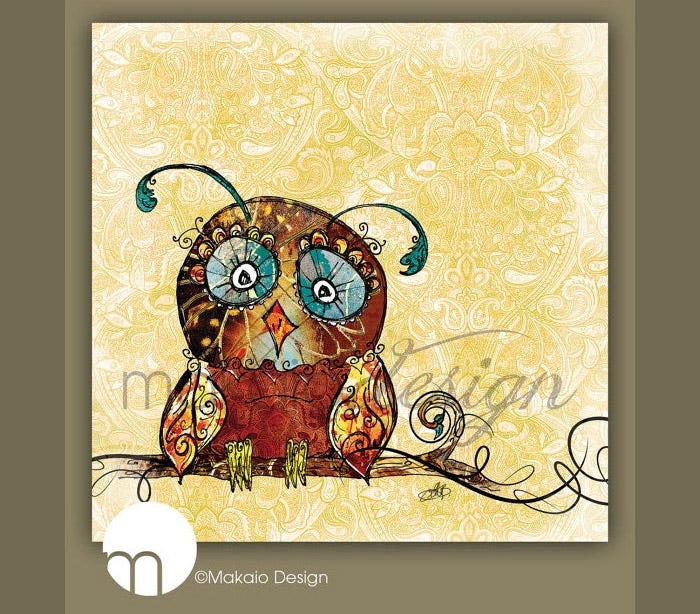 christmas sale whimsical owl