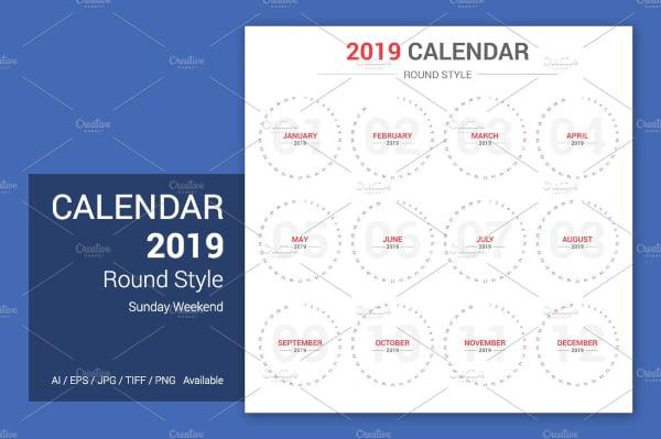 calendar-2019-round-style