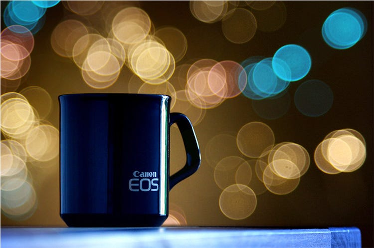 Canon EOS Coffee Cup