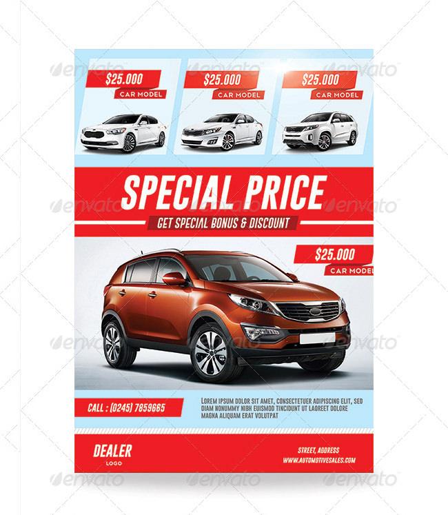 Cars For Sale Flyer  Car Flyers