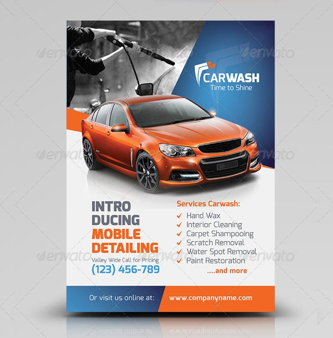 car wash flyer template Success