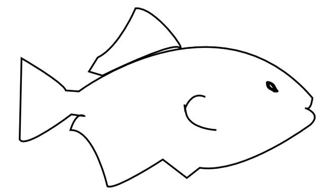 Irresistible image for printable fish templates