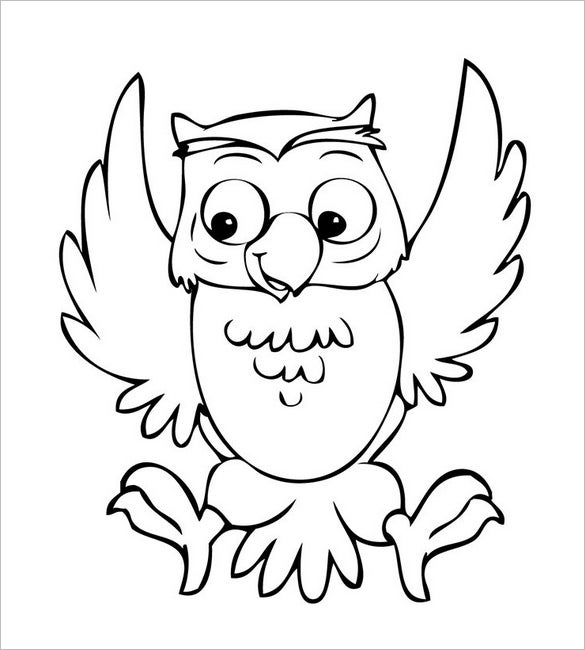 cartoon owl template
