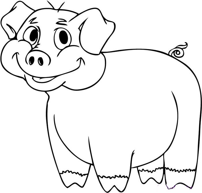 Pig template animal templates free premium templates cartoon pig coloring page maxwellsz