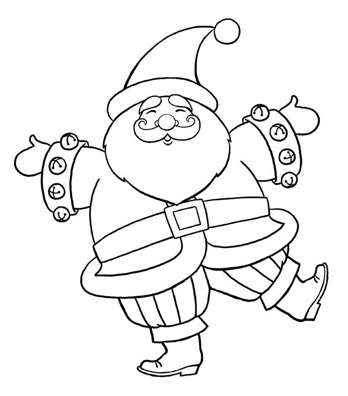 santa in a car images coloring pages | 60+ Best Santa Templates Shapes, Crafts & Colouring Pages ...