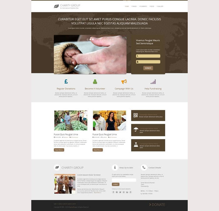 Charity Group Premium Website Template