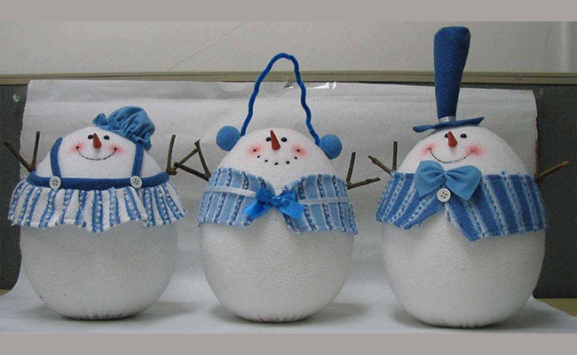 christmas craft snowmen
