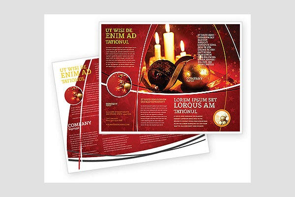 Brochures Template Free Christmas Brochures Templates    Template