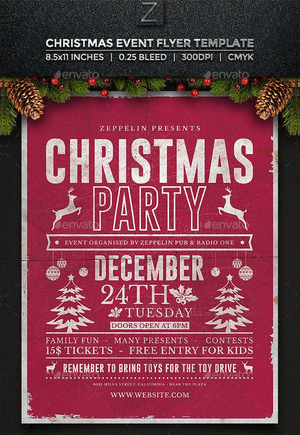 christmas flyer template vol2