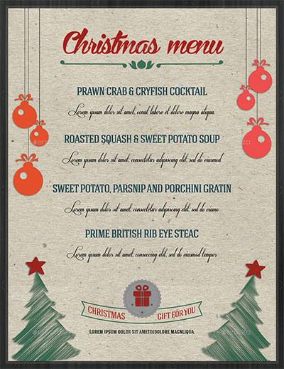 the bull christmas menu christmas menu flyer template christmas menu
