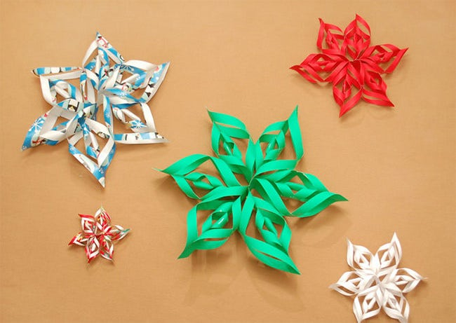 christmas star craft template