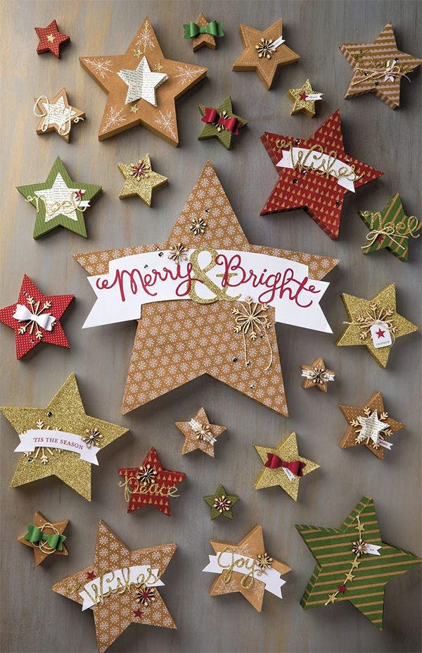 christmas star shape crafts