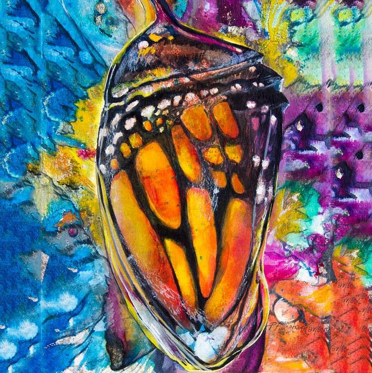 chrysalis metamorphosis painting