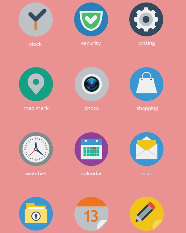 circle web icon icons set