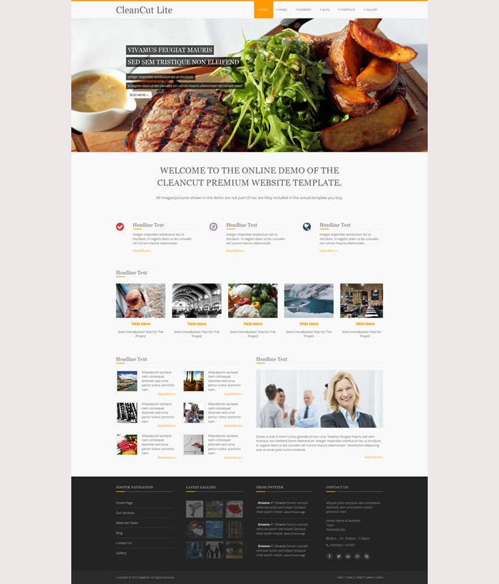 CleanCut Lite Premium Website Template