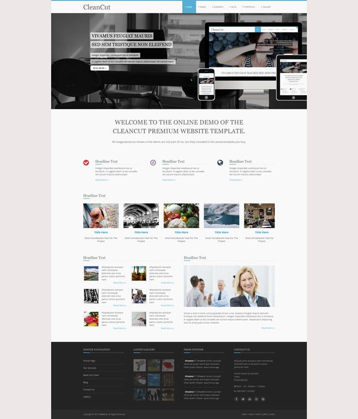 CleanCut Pro Premium Website Template