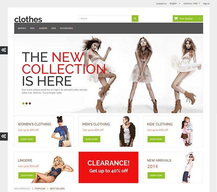 clothes prestashop responsive theme