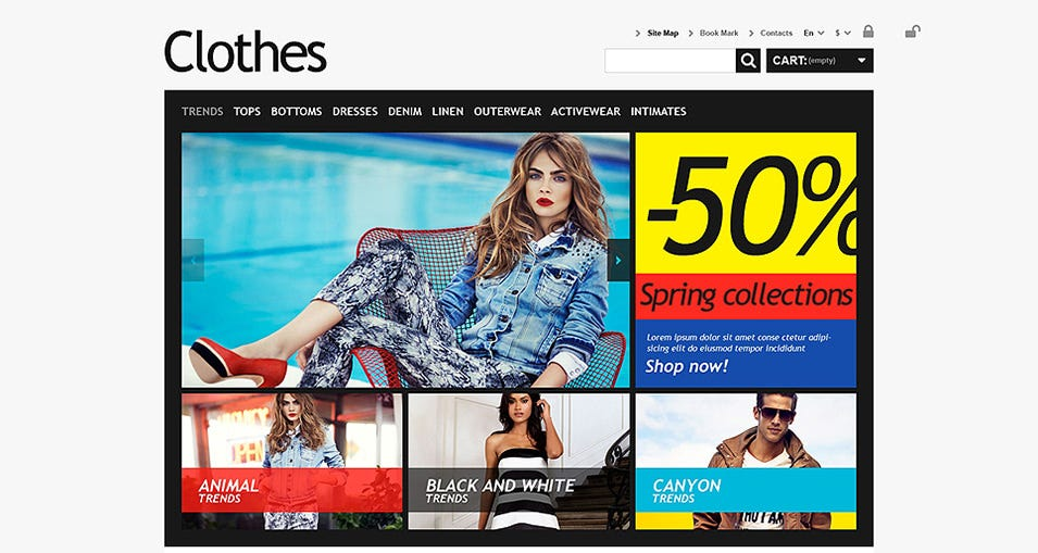 Clothes for Choosy Women PrestaShop Theme