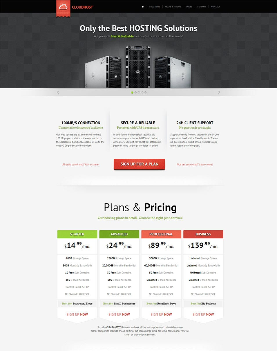 60 Best Web Hosting Website Templates & Themes | Free & Premium ...