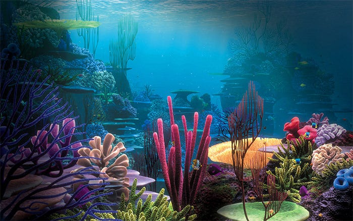colorful aquarium background