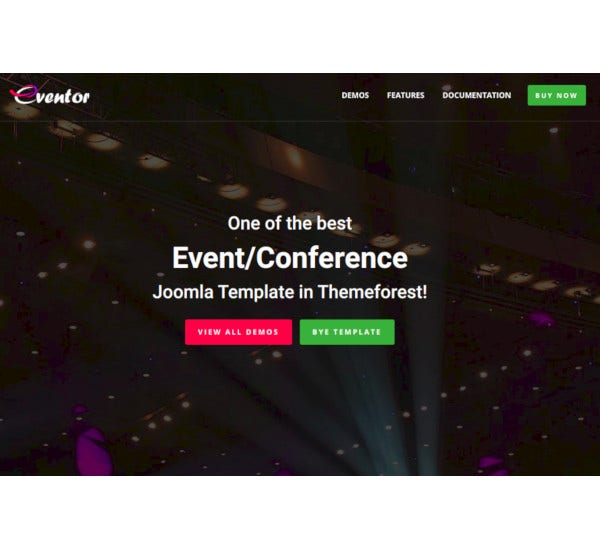 conference event joomla template
