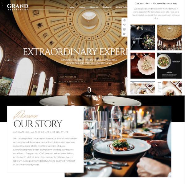 cooking grand restaurant wordpress