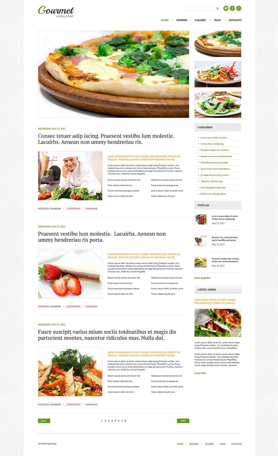 cooking responsive wordpress theme1