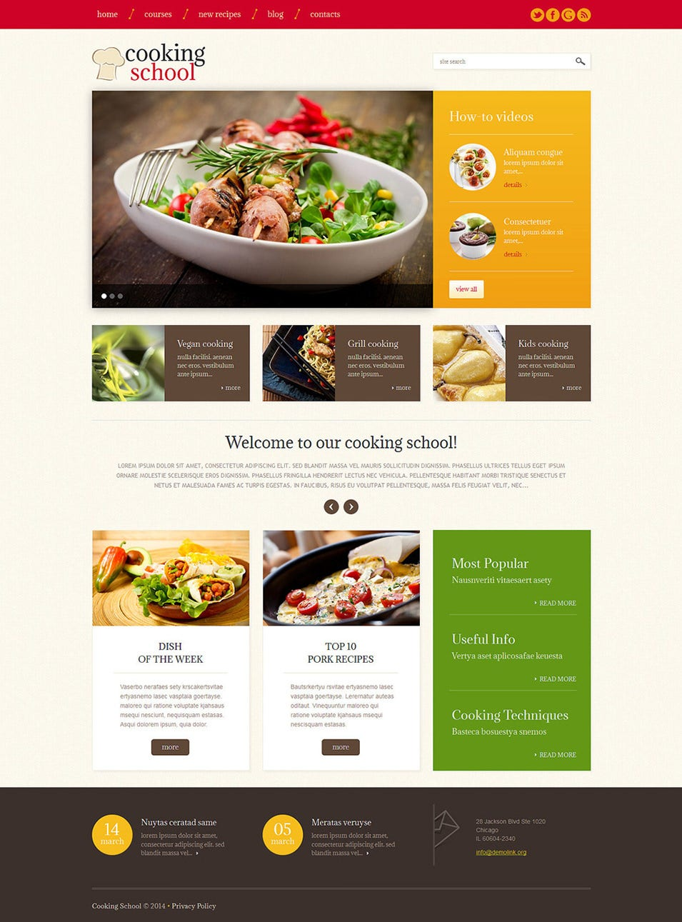 cooking wordpress theme1