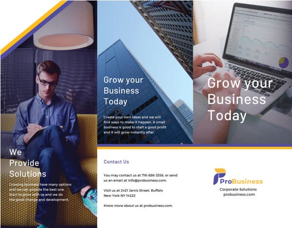 corporate business brochure psd template