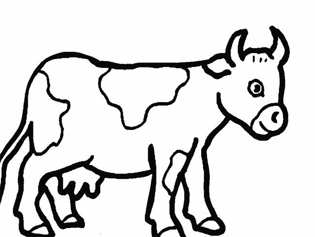 cow template outline dark