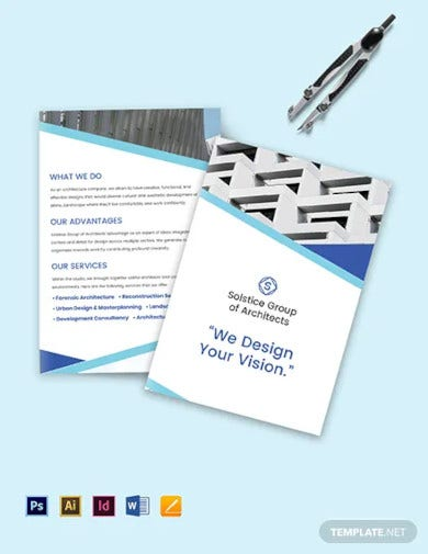 creative architecture bi fold brochure template