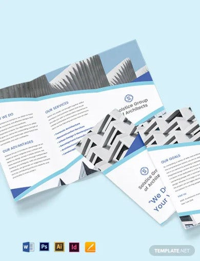creative architecture tri fold brochure template