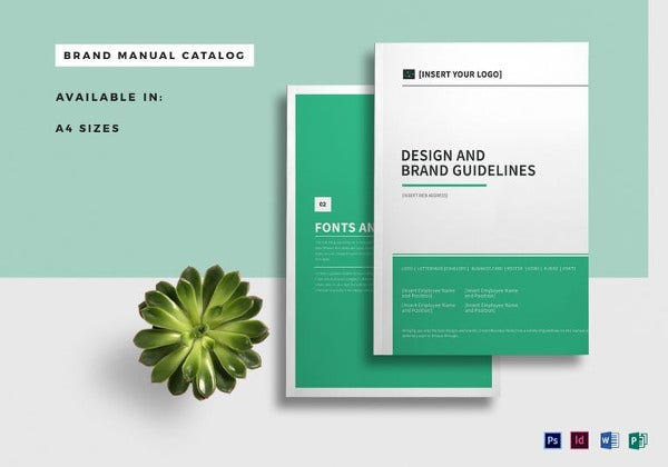 creative brand manual catalog template