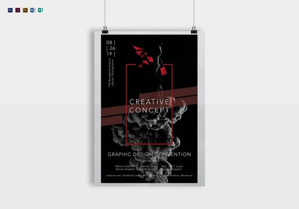 creative graphic design concept poster template