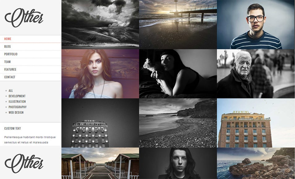 creative photography drupal 7 theme