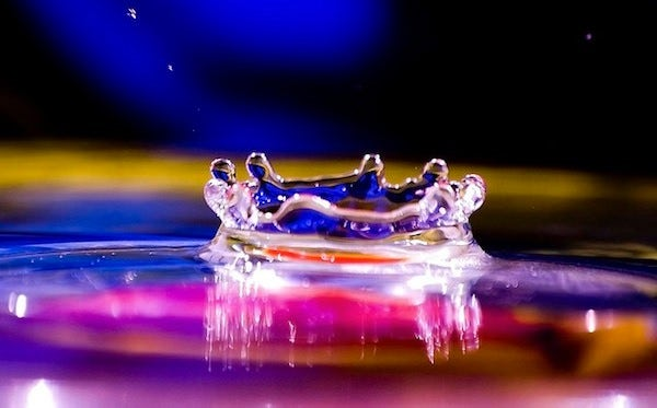 creative water drop photography