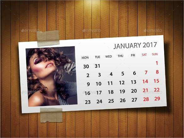 customizable psd calendar 20171