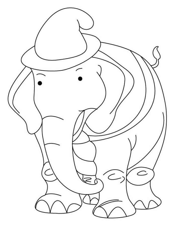 cute african elephant template