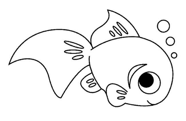 Cute fish coloring pictures