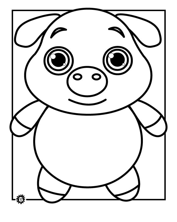 cute pig coloring page - Pig Coloring Pages