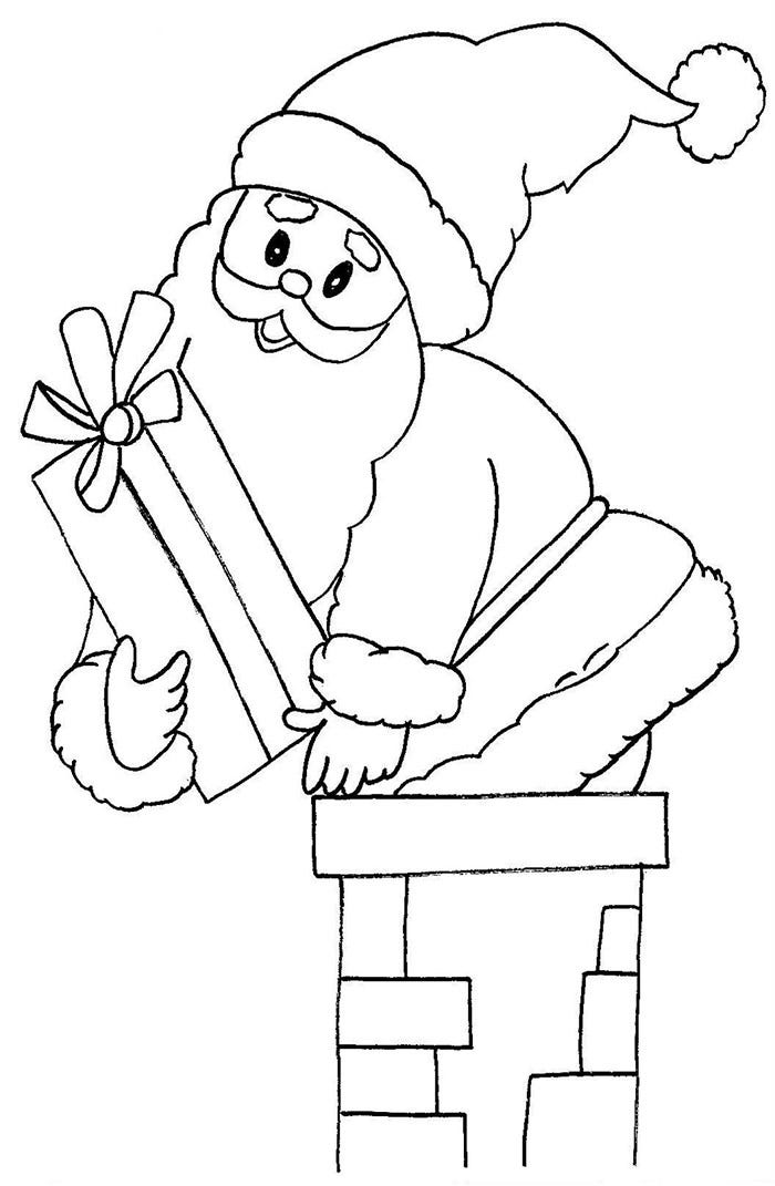 cute santa claus template for kids