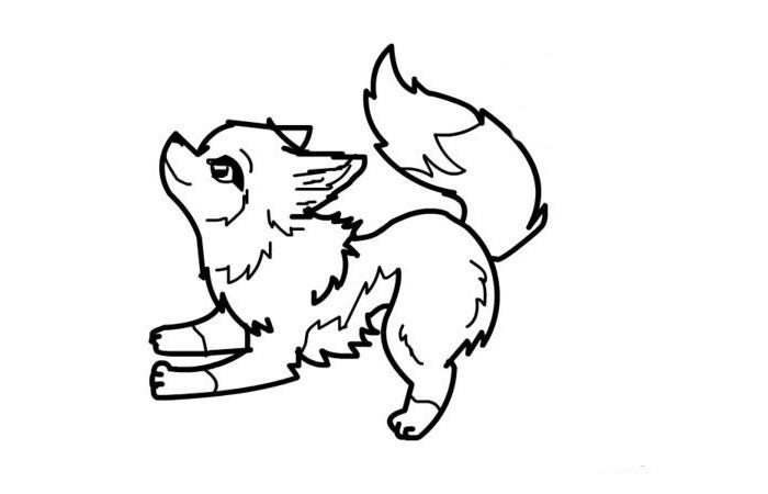 Wolf template animal templates free premium templates for Free printable wolf coloring pages